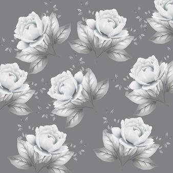 완벽 한 패턴 꽃 잎 수채화