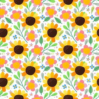 완벽 한 패턴 꽃입니다. 직물 등에 사용할 수 있습니다.