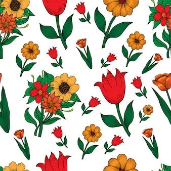 완벽 한 패턴 꽃 그림