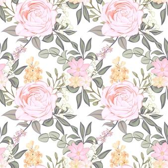 Seamless pattern flower