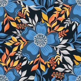 Seamless pattern flowerelegant floral designbotanical print fashion print