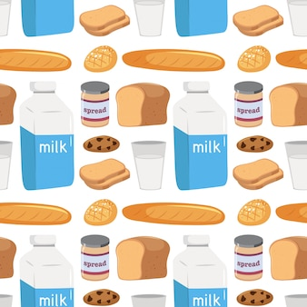 Seamless pattern of food