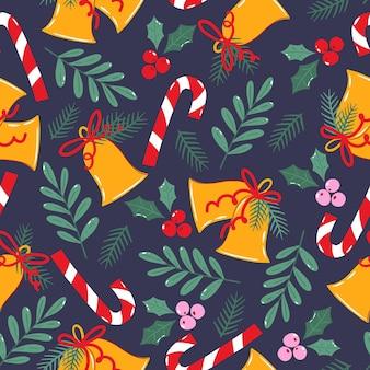 クリスマスの包装紙やテキスタイルのシームレスなパターン。