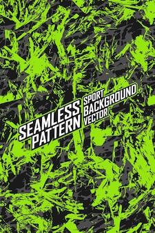 極端なジャージチームレーシングサイクリングレギンスサッカーゲームとカラーリングのためのシームレスなパターン