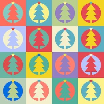 새 해 복 많이 받으세요 또는 메리 크리스마스에 대 한 완벽 한 패턴