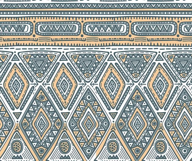 Бесшовные модели для племенного дизайна. геометрический этнический мотив с ромбом