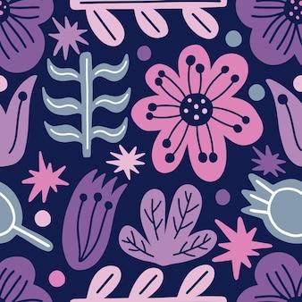 원활한 패턴 양식 현대 꽃 꽃 자연 배경 printdecorative 벽지