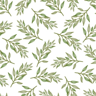 Seamless pattern of fresh green leaves for fabric design