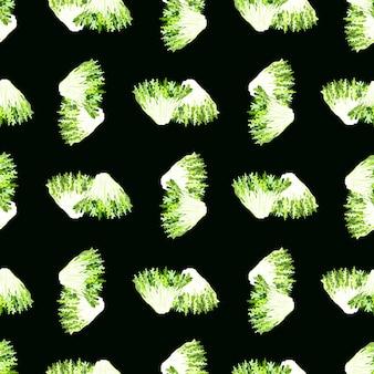 Салат фризе бесшовные модели на черном фоне. простой орнамент с салатом.