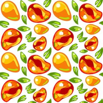 Seamless pattern from mango