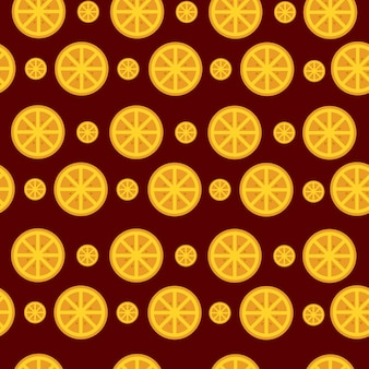 Seamless pattern fruit orange