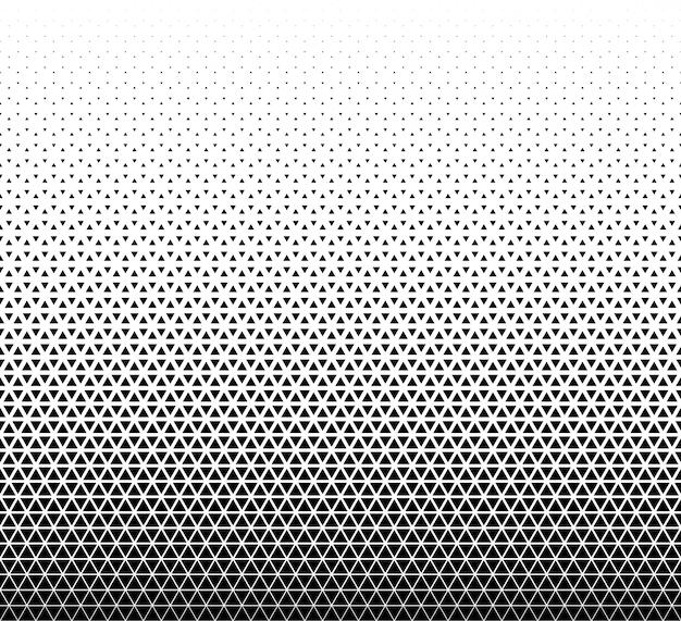 幾何学的なシームレスパターン。白地に黒い三角形。
