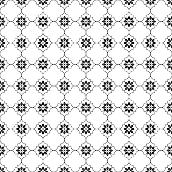 Seamless pattern geometric.black and white background.design for background