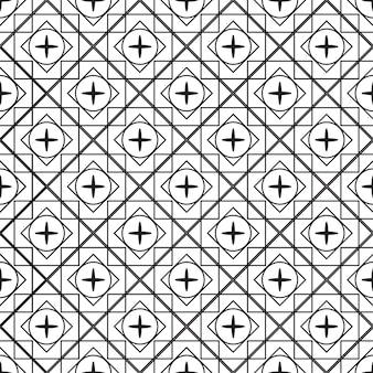 Seamless pattern geometric. black and white background.