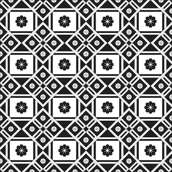 Seamless pattern geometric. black and white background.