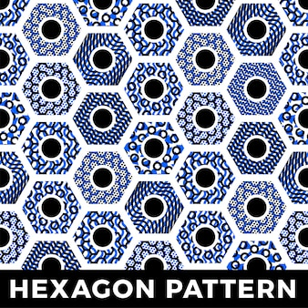 Seamless pattern geometric hexagon honey abstract background