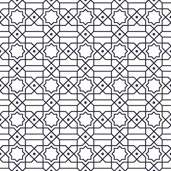 Seamless pattern. geometric shape in batik style.  background wallpaper. traditional elegant motif.