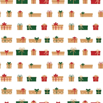 Бесшовные модели подарочные коробки векторные иллюстрации.