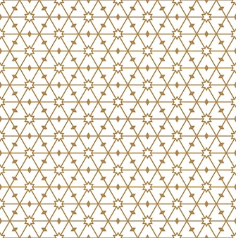 Seamless pattern in golden average lines.