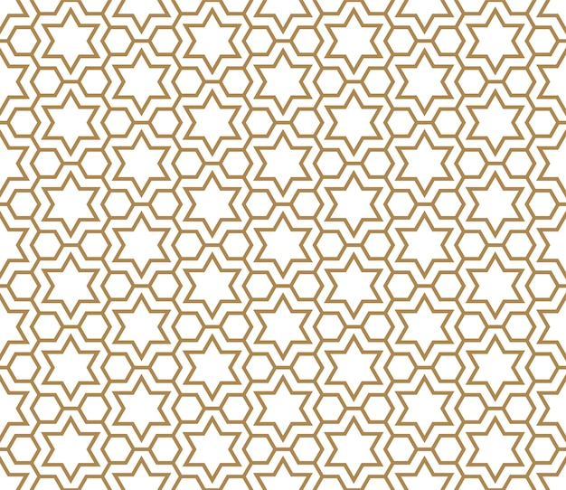 Seamless pattern in golden and white