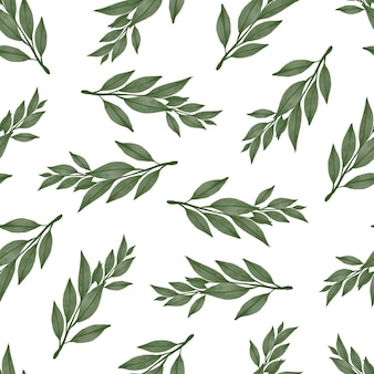 Seamless pattern of green leaf for fabric and background design