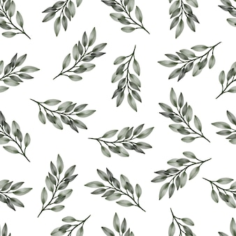 Seamless pattern of green leaves for fabric and background design