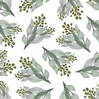 Seamless pattern of green plant for background and fabric design