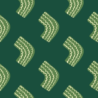Seamless pattern in green tones. light green elements.