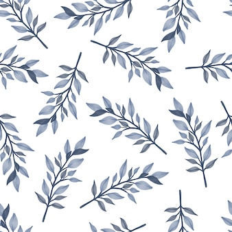 Seamless pattern of grey leaves for backgroun and fabric design