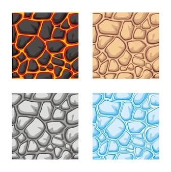 Seamless pattern of ground texture