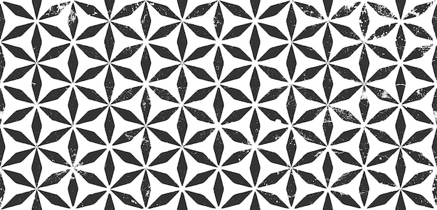 Seamless pattern grunge in modern style repeating monochrome vector texture geometric abstract background tribal ethnic wallpaper boho wall decor decorative print textile ornament