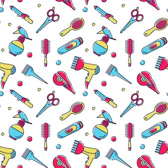 Seamless pattern for hairdresser