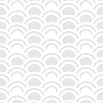 Seamless pattern of half circles