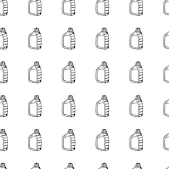 シームレスパターン手描きのcanistr落書き。スケッチスタイルのアイコン。装飾要素。白い背景で隔離。フラットなデザイン。ベクトルイラスト。