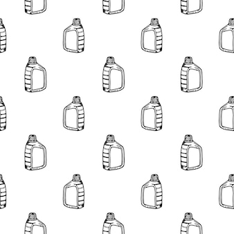 Seamless pattern hand drawn canistr doodle. sketch style icon. decoration element. isolated on white background. flat design. vector illustration.
