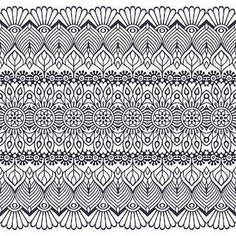 シームレスパターン。手で書いた 。イスラム教、アラビア語