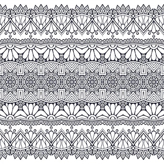 Бесшовные модели нарисованный от руки . ислам, арабский