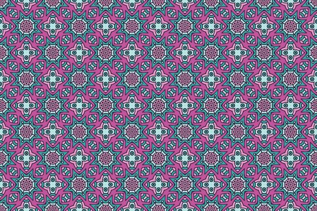 Seamless pattern. elementi decorativi vintage disegnati a mano.