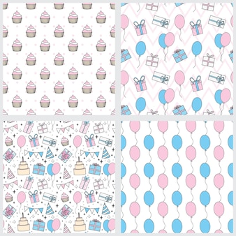 Seamless pattern happy birthday suitable for wrapping and decorating background