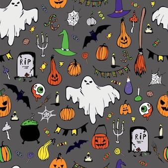 Seamless pattern. happy halloween.