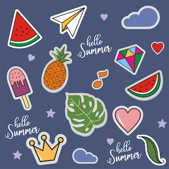 Seamless pattern of hello summer, vector illustration