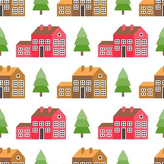 Seamless pattern of house