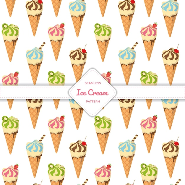 Рожок мороженого бесшовные модели