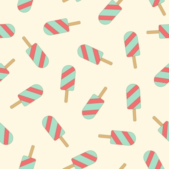 Seamless pattern ice cream  perfect for wrapping paper and fabric