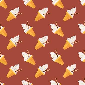 원활한 패턴 아이스크림 아이스바