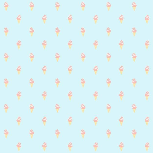 원활한 패턴 아이스크림 딸기