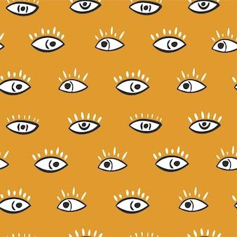 추상적인 스타일의 완벽 한 패턴입니다. 밝은 배경에 눈입니다. 벡터 일러스트 레이 션 프리미엄 벡터