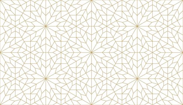 本物のアラビアンスタイルのシームレスなパターン。