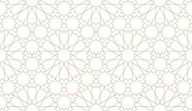 Бесшовный узор в аутентичном арабском стиле.