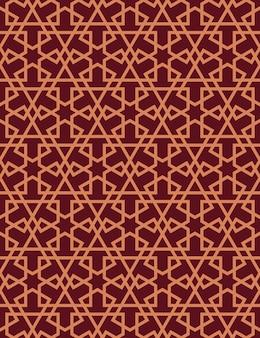 イスラム風のシームレスなパターン。